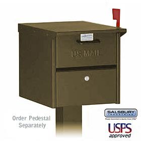 Locking Roadside Mailbox Bronze
