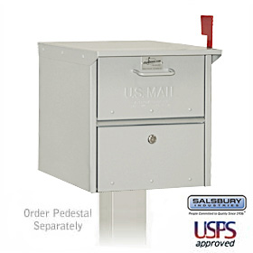 Locking Roadside mailbox with Nickel Finish
