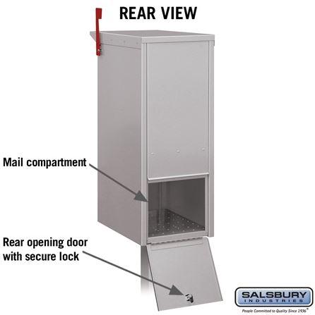 4375 Locking Post Mount Mailbox Rear View