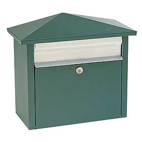 Mail House Locking Mailbox Green