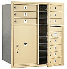 4C standard horizontal 3700 series mailbox